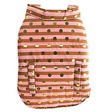 Top Paw® Dotted Stripe Dog Coat