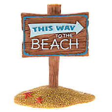 Top Fin® Seaside Beach Sign Aquarium Ornament