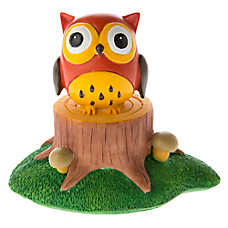 Top Fin® Owl on Stump Aquarium Ornament