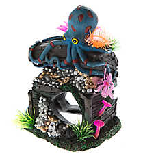 Top Fin® Sunken Octopus with Treasure Aquarium Ornament