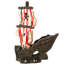 Top Fin® Sunken Pirate Ship Aquarium Ornament