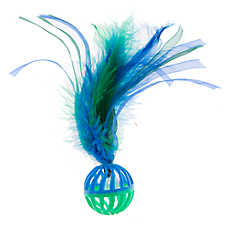 Pet Holiday™ Winter Ball with Feather Cat Toy
