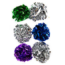 Pet Holiday™ Winter 6-Pack Foil Balls Cat Toy