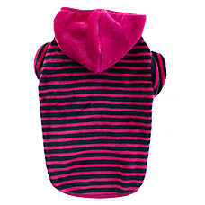 Top Paw® Striped Fleece Dog Hoodie
