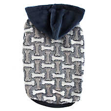 Top Paw®  Bone Fleece Dog Hoodie