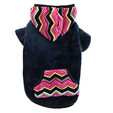 Top Paw® Chevron Fleece Dog Hoodie