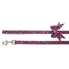 Top Paw® Cheetah with Bow Dog Leash