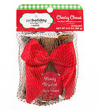 Pet Holiday™ Dentley's® Cheery Chews Bone Dog Treat - Honey Roasted Ham