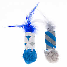 Pet Holiday™ Winter Feather Mice 2-Pack Cat Toy