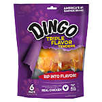 Dingo Triple Flavor Tenders Dog Treat - Chicken, Rawhide & Pork