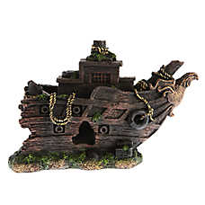 Top Fin® Ship with Sail Aquarium Ornament