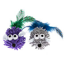 Pet Holiday™ Winter Noodle Mice 2-Pack with Feathers Cat Toy