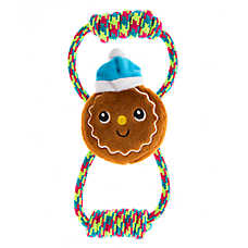 Pet Holiday™ Winter Gingerbread Plush Rope Dog Toy