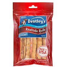 Dentley's® Rawhide Rolls Medium Dog Treat - Chicken