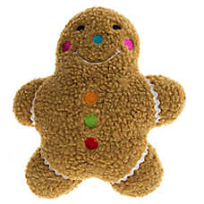 Pet Holiday™ Winter Gingerbread Man Sherpa Dog Toy