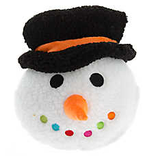 Pet Holiday™ Winter Snowman Head Sherpa Dog Toy