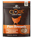 Wellness® CORE® Pure Rewards Jerky Dog Treat - Natural, Grain Free, Chicken & Lamb