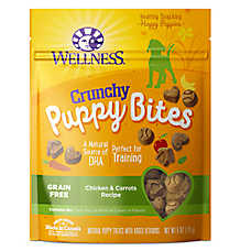 Wellness® Crunchy Puppy Bites Treat - Natural, Grain Free, Chicken & Carrots
