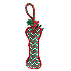 Pet Holiday™ Bone Rope Handle Dog Toy