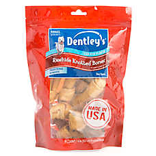 Dentley's® Rawhide Knotted Bones Small Dog Treat - Chicken