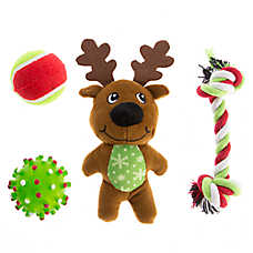Pet Holiday™ Reindeer 4-Pack Dog Toy