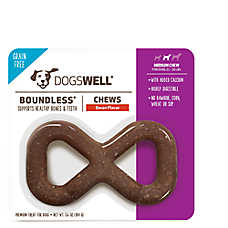 DOGSWELL® Boundless Mediium Dog Chew Treat - Grain Free, Bacon