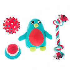 Pet Holiday™ Winter Penguin 4-Pack Dog Toy