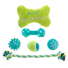 Pet Holiday™ Winter Bone with Rope 6-PAck Dog Toy