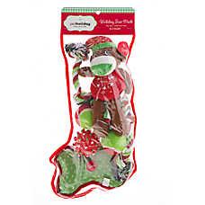 Pet Holiday™ Sock Monkey Stocking 8-Pack Dog Toy