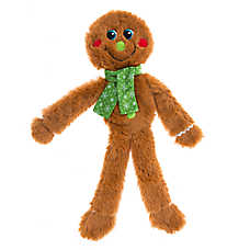 Pet Holiday™ Gingerbread Man Flattie Dog Toy