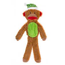 Pet Holiday™ Sock Monkey Flattie Dog Toy