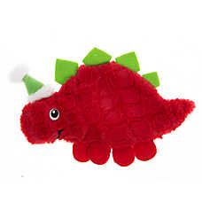 Pet Holiday™ Red Stegosaurus Flattie Dog Toy