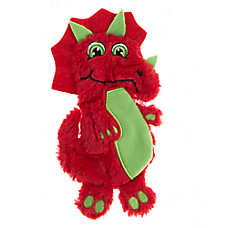 Pet Holiday™ Red Triceratops Flattie Dog Toy