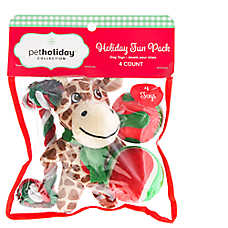Pet Holiday™ Giraffe 4-Pack Dog Toys