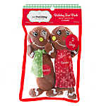 Pet Holiday™Gingerboy and Gingergirl Long Body 2-Pack  Dog Toy
