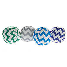 Pet Holiday™ Chevron Snowball 4-Pack Dog Toy