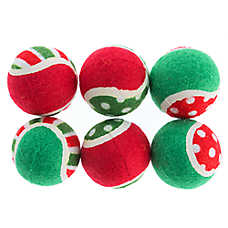 Pet Holiday™ Traditional 6-Pack Tennis Balls Dog Toy