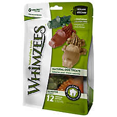 WHIMZEES Dental Care Alligator Medium Dog Treat - Natural, Gluten Free, Vegetarian
