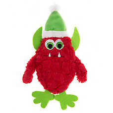 Pet Holiday™ Red Monster Flattie Dog Toy