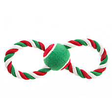 Pet Holiday™ Figure 8 Rope with Tennis Ball Dog Toy