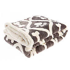Pet Holiday™ Lattice Bone & Paw Pet Throw Blanket