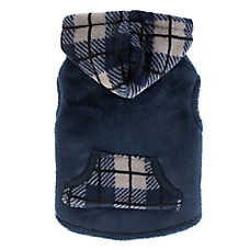 Top Paw® Plaid Fleece Dog Hoodie