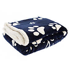 "Pet Holiday™ ""Dogs Leave Prints on Your Heart"" Pet Throw Blanket"