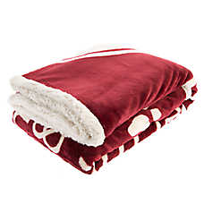 "Pet Holiday™ ""Drink Wine & Pet My Dog"" Pet Throw Blanket"