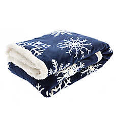 Pet Holiday™ Snowflake Pet Throw Blanket