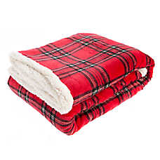 Pet Holiday™ Plaid Pet Throw Blanket