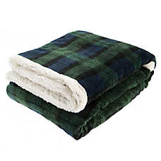 Pet Holiday™ Watch Plaid Pet Throw Blanket