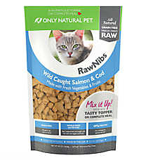Only Natural Pet RawNibs Cat Food - Freeze Dried Raw, Grain Free, Salmon & Cod