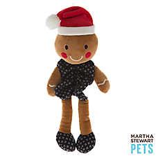 Martha Stewart Pets® Bungee Body Gingerbread Boy Dog Toy