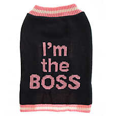 "Grreat Choice® ""I'm the Boss"" Dog Sweater"